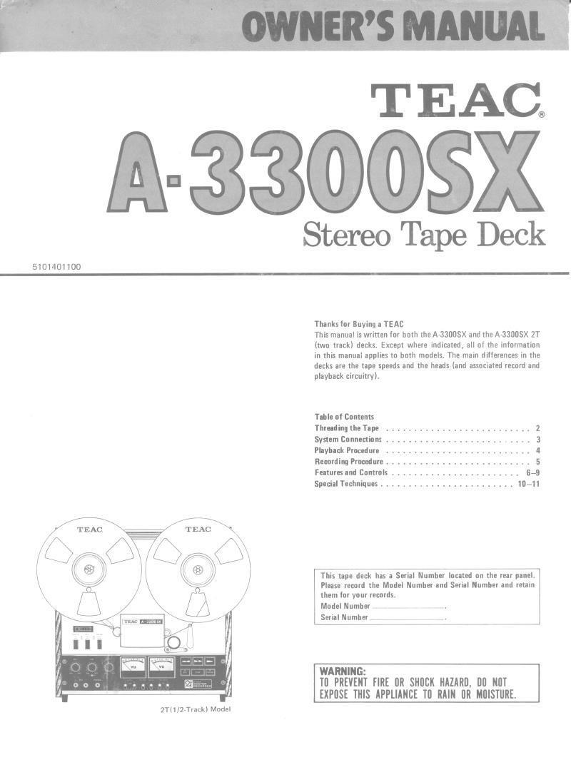Reel to Reel Manuals Vintage Audio